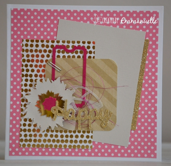 """Carte """"happy gold"""" Avril 2016 