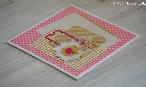 "Carte ""happy gold"" Avril 2016 