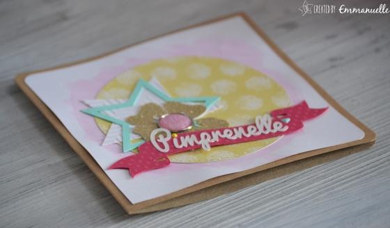 "Carte ""naissance Pimprenelle"" Avril 2016 | Created by Emmanuelle"