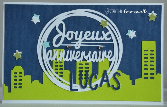 "Carte anniversaire ""city"" Mai 2016 