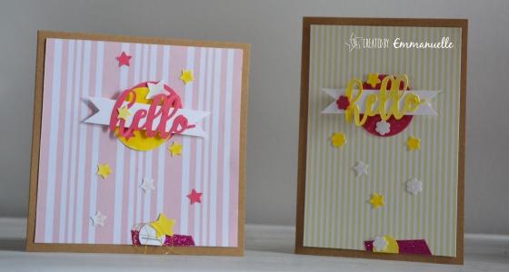 "Carte anniversaire ""hello girls"" Mai 2016 | Created by Emmanuelle"