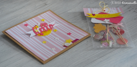 "Carte anniversaire ""hello girls"" Mai 2016 