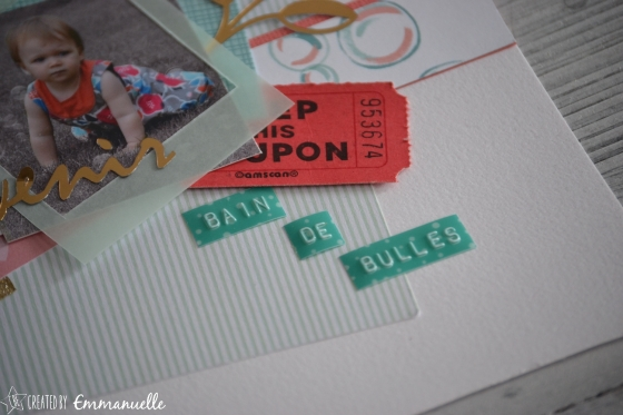 "Page Scrap A4 ""Bain de bulles"" Mai 2016 | Created by Emmanuelle"