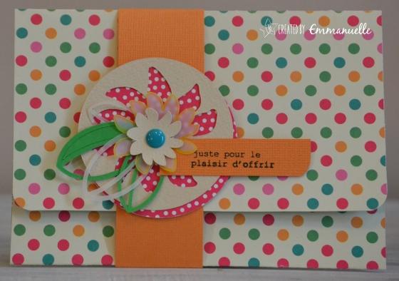 "Pochette-cadeau ""colors"" mai 2016 | Created by Emmanuelle"