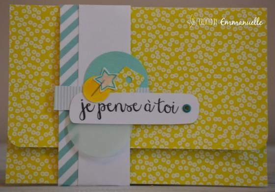 "Pochette-cadeau ""jaune & mint"" mai 2016 | Created by Emmanuelle"