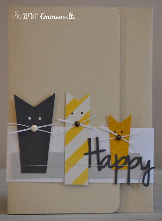"Pochette-cadeau ""cats"" mai 2016 | Created by Emmanuelle"