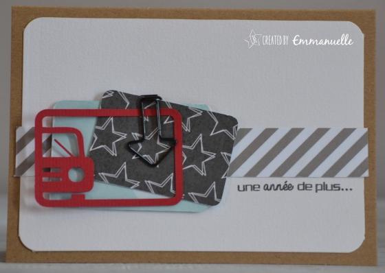 "Carte anniversaire ""auto"" Mai 2016 | Created by Emmanuelle"