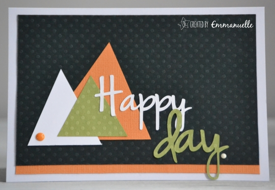 "Carte anniversaire ""triangles"" Juin 2016 