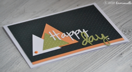 """Carte anniversaire """"triangles"""" Juin 2016 