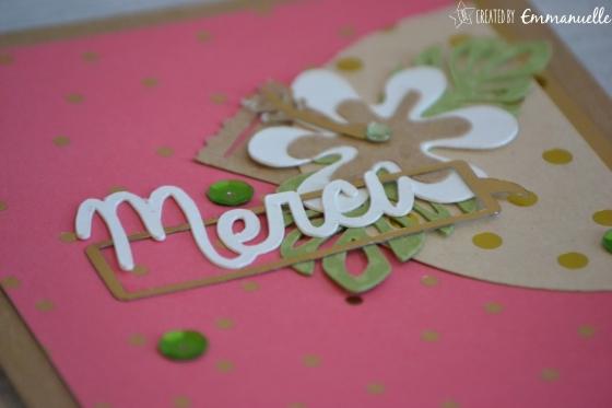 "Carte anniversaire ""Merci tropical"" Juin 2016 | Created by Emmanuelle"