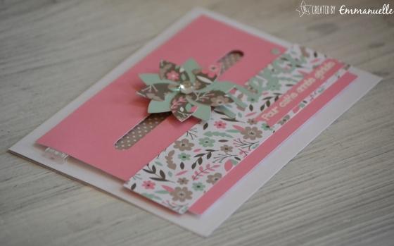 "Carte ""Spinner Merci fleuri"" Juin 2016 | Created by Emmanuelle"