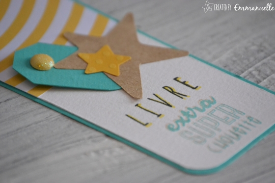 """Marque-page """"Livre extra super chouette"""" Juillet 2016 