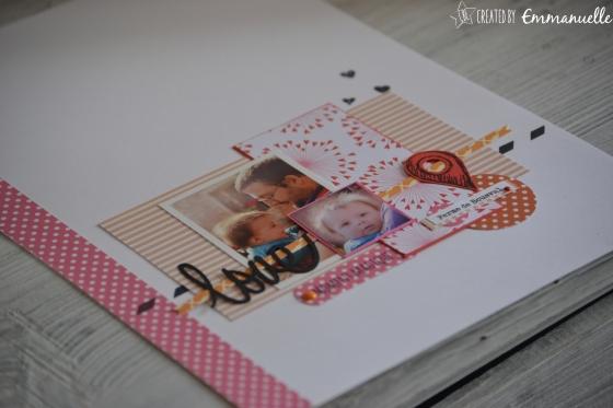 "Page Scrap A4 ""Love Papa"" Juillet 2016 | Created by Emmanuelle"
