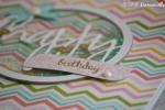 "Carte d'anniversaire ""shaker Zig-Zag"" Août 2016 | Created by Emmanuelle"