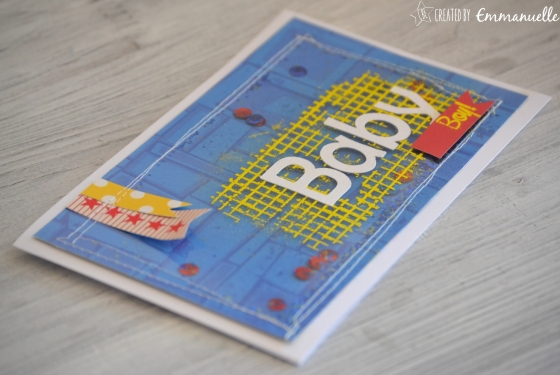 "Carte naissance ""shaker boy"" août 2016 | Created by Emmanuelle"