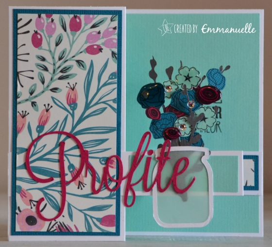 "Carte retraite ""bouquet"" août 2016 