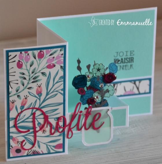"""Carte retraite """"bouquet"""" août 2016   Created by Emmanuelle"""