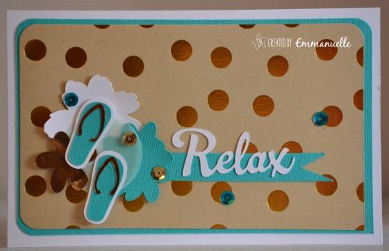 "Carte retraite ""relax"" août 2016 | Created by Emmanuelle"