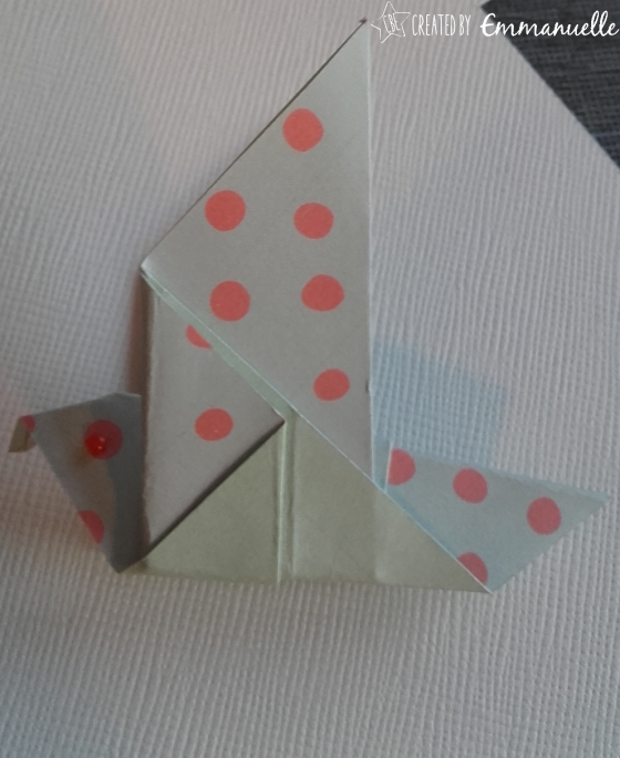 Origami oiseau août 2016 | Created by Emmanuelle