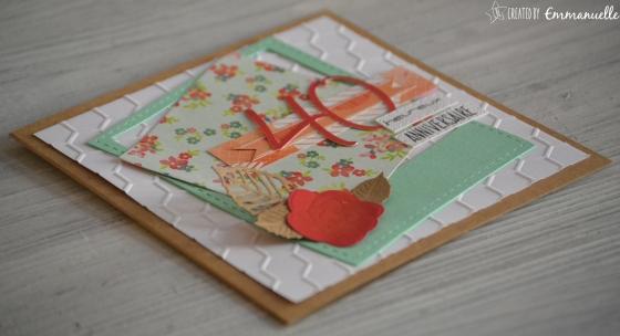 """Carte d'anniversaire """"40 & polaroid"""" Septembre 2016   Created by Emmanuelle"""