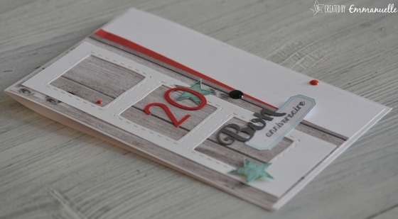 """Carte d'anniversaire """"bois et couture"""" Septembre 2016   Created by Emmanuelle"""