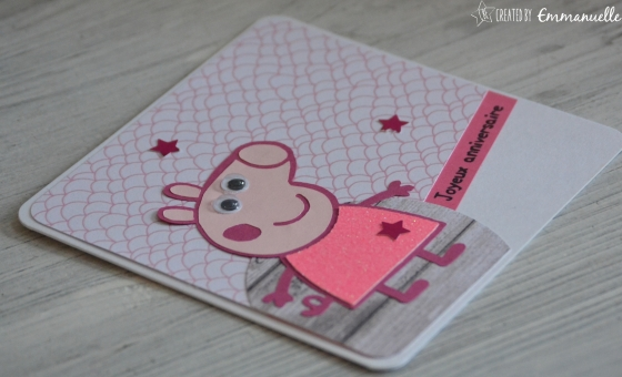 "Carte anniversaire ""Peppa Pig"" Octobre 2016 