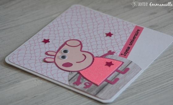 "Carte anniversaire ""Peppa Pig"" Octobre 2016 | Created by Emmanuelle"