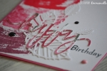 "Carte d'anniversaire ""tampons aquarelle"" Octobre 2016 | Created by Emmanuelle"
