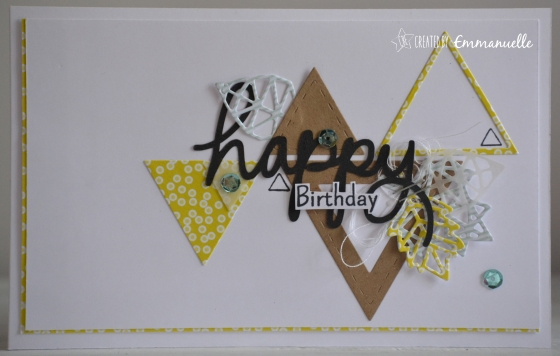 "Carte anniversaire ""triangles automne"" Octobre 2016 