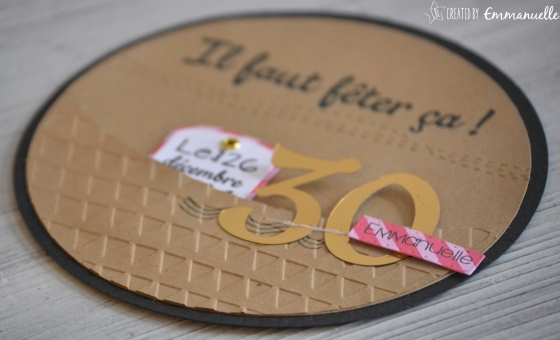 "Carte invitations ""30 ans"" Octobre 2016 