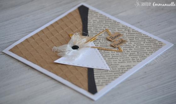 "Carte de voeux ""triangles kraft"" Novembre 2016 | Created by Emmanuelle"