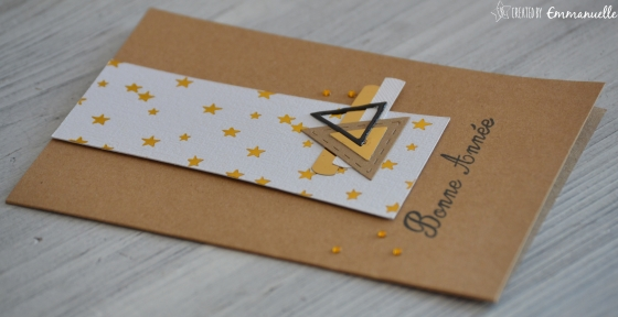 "Carte de voeux ""triangles gold"" Novembre 2016 