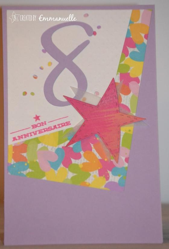 "Carte anniversaire mariage ""8 & flashy"" Décembre 2016 | Created by Emmanuelle"