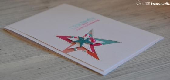 """Carte d'anniversaire """"Etoiles"""" Janvier 2017   Created by Emmanuelle"""