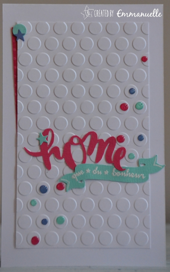 "Carte ""home à pois"" Janvier 2017 