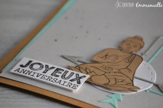 "Carte d'anniversaire ""bouddha"" Mars 2017 | Created by Emmanuelle"