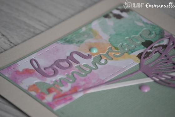 """Carte d'anniversaire """"douces fleurs"""" Mars 2017   Created by Emmanuelle"""