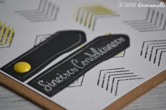 "Carte de condoléances ""chevrons"" Mars 2017 | Created by Emmanuelle"
