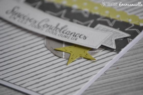"""Carte de condoléances """"étoiles et couture"""" Mars 2017   Created by Emmanuelle"""