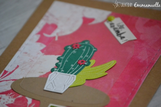 "Carte d'anniversaire ""cactus fun"" Avril 2017 | Created by Emmanuelle"