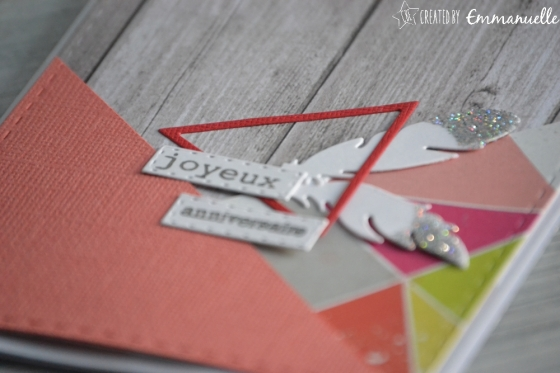 """Carte d'anniversaire """"triangles scandinaves"""" Avril 2017 