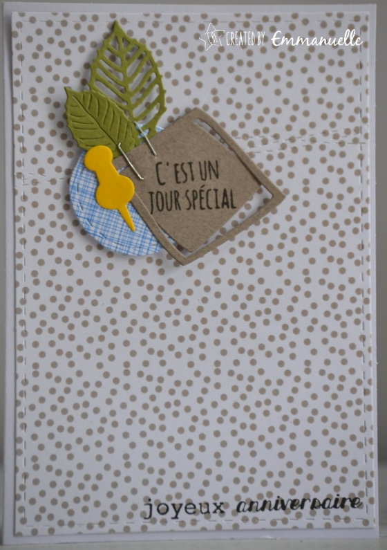 "Carte d'anniversaire ""pancarte masculine"" mai 2017 | Created by Emmanuelle"