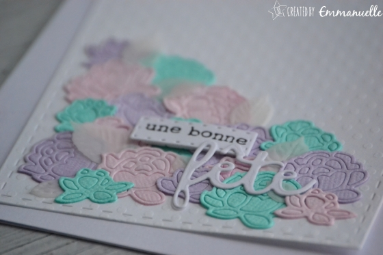 """Carte fête des mères """"roses pastel"""" mai 2017   Created by Emmanuelle"""