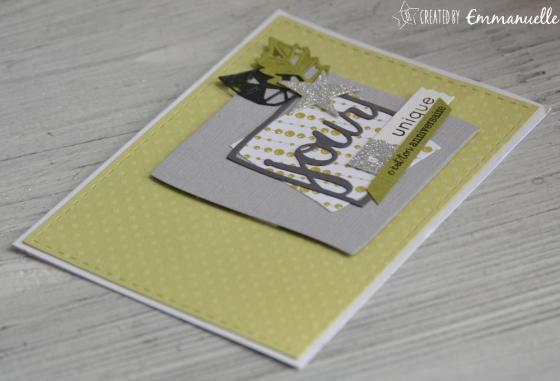 "Carte d'anniversaire ""carré masculin"" mai 2017 | Created by Emmanuelle"