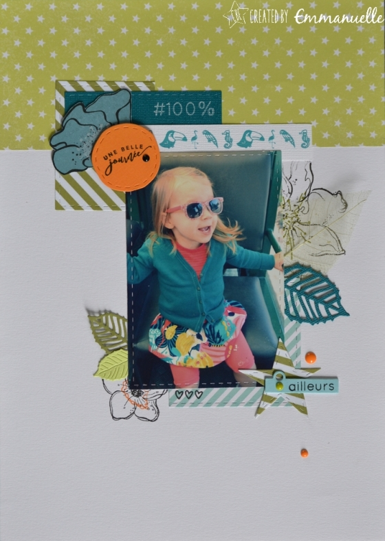"Page Scrap A4 ""Flowers&green"" Mai 2017 