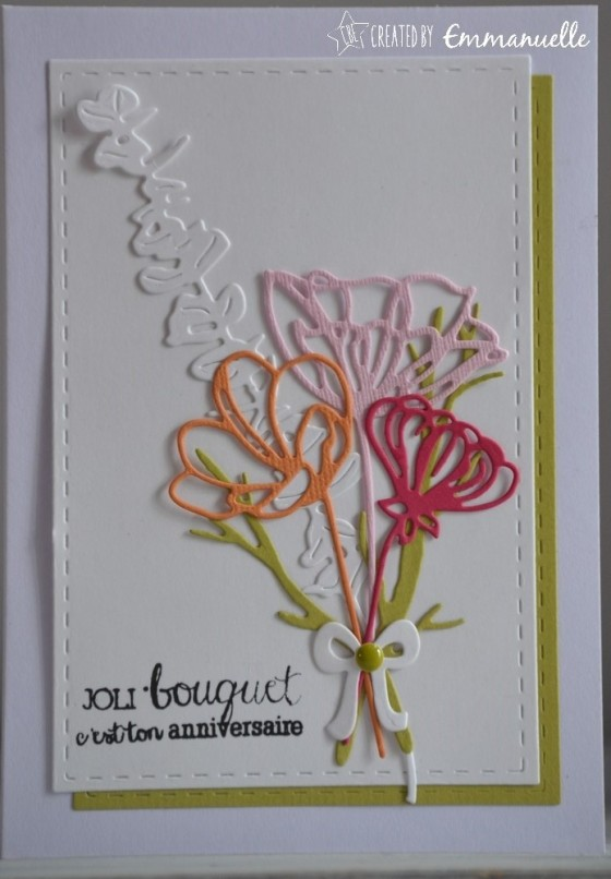 "Carte anniversaire ""bouquet"" juin 2017 