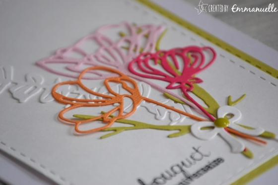 """Carte anniversaire """"bouquet"""" juin 2017   Created by Emmanuelle"""