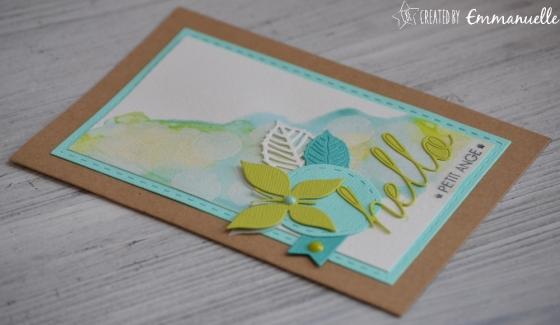 "Carte félicitations ""hello bokeh"" juin 2017 | Created by Emmanuelle"