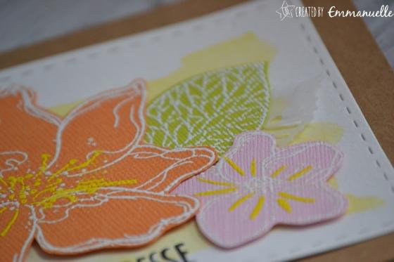 "Carte merci ""merci fleuri"" juin 2017 | Created by Emmanuelle"