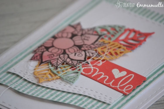 "Carte petit mot ""smile"" juin 2017 